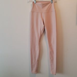 Blush pink high rise alo yoga leggings